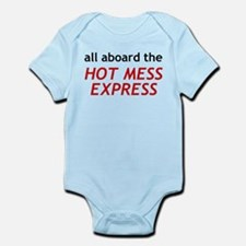 All Aboard The Hot Mess Express Infant Bodysuit