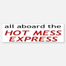 All Aboard The Hot Mess Express Sticker (Bumper)