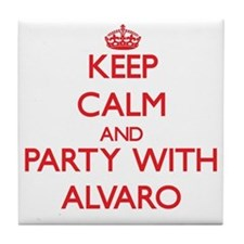 Keep Calm and Party with Alvaro Tile Coaster