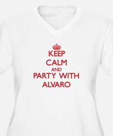 Keep Calm and Party with Alvaro Plus Size T-Shirt