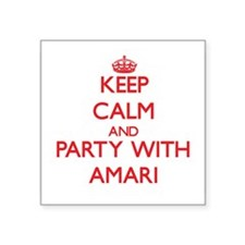 Keep Calm and Party with Amari Sticker