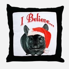 Chin I Believe (ebony) Throw Pillow