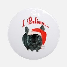 Chin I Believe (ebony) Ornament (Round)