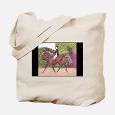 Dressage Horse Riding Black Sides Tote Bag