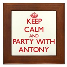 Keep Calm and Party with Antony Framed Tile