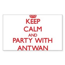 Keep Calm and Party with Antwan Decal