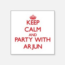 Keep Calm and Party with Arjun Sticker