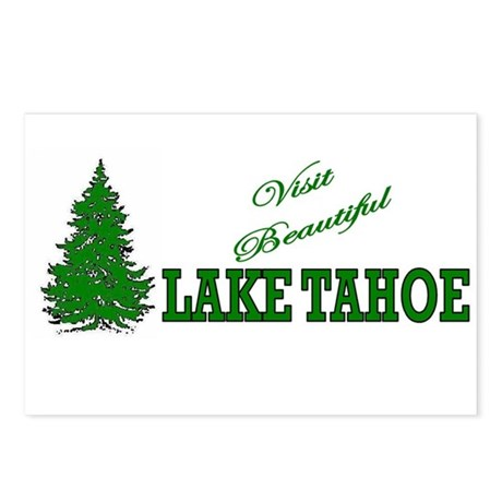 Visit Beautiful Lake Tahoe Postcards (Package of 8