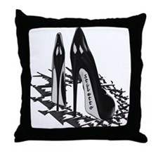 Black Stiletto Fetish Art Throw Pillow