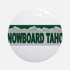 Snowboard Tahoe Ornament (Round)