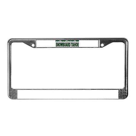 Snowboard Tahoe License Plate Frame