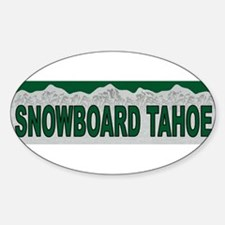 Snowboard Tahoe Oval Decal