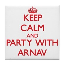 Keep Calm and Party with Arnav Tile Coaster