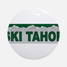 Ski Tahoe Ornament (Round)
