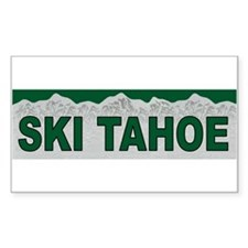 Ski Tahoe Rectangle Decal
