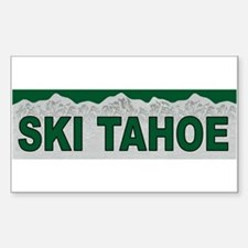 Ski Tahoe Rectangle Decal