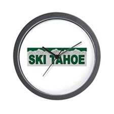 Ski Tahoe Wall Clock