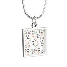"""Mina"" Vintage Silver Square Necklace"