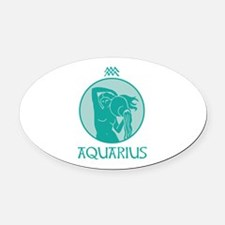 AQUARIUS Oval Car Magnet