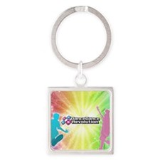 DDR back Square Keychain