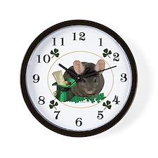 Chin Shamrock Wall Clock