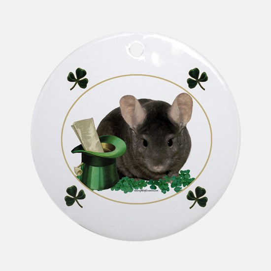 Chin Shamrock Ornament (Round)