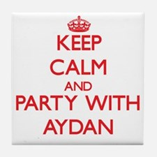 Keep Calm and Party with Aydan Tile Coaster