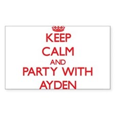 Keep Calm and Party with Ayden Decal