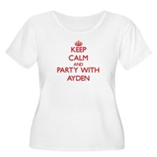 Keep Calm and Party with Ayden Plus Size T-Shirt