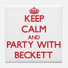 Keep Calm and Party with Beckett Tile Coaster