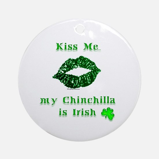 Chinchilla Kiss Ornament (Round)