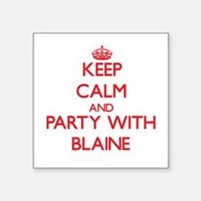 Keep Calm and Party with Blaine Sticker