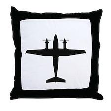 Beech King Air 300 (top) Throw Pillow
