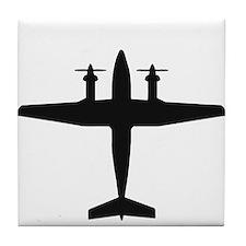 Beech King Air 300 (top) Tile Coaster