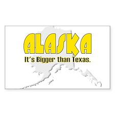 Bigger than Texas Rectangle Decal