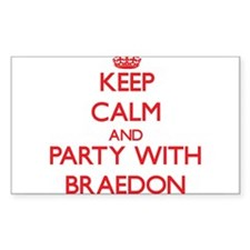 Keep Calm and Party with Braedon Decal