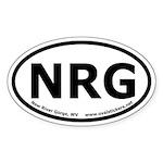 New River Gorge, WV Oval Car Sticker