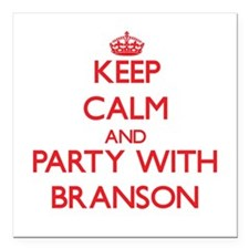 Keep Calm and Party with Branson Square Car Magnet