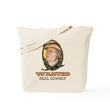 WANTED-Real Cowboy Tote Bag