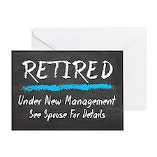 Chalkboard Retired Under New Management Greeting C