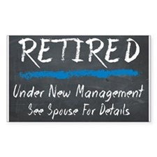Chalkboard Retired Under New Management Decal