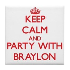 Keep Calm and Party with Braylon Tile Coaster