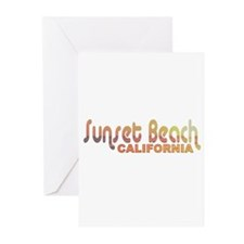 Sunset Beach, California Greeting Cards (Package o