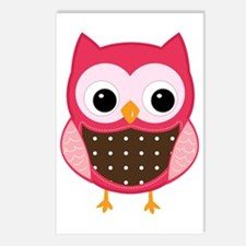pink owl Postcards (Package of 8)