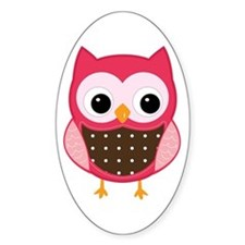 pink owl Decal