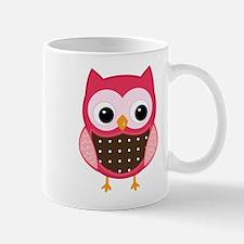 pink owl Mugs
