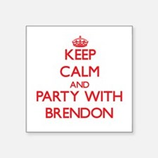 Keep Calm and Party with Brendon Sticker