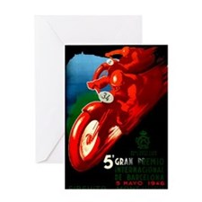 1946 Barcelona Grand Prix Motorcycle Race Poster G