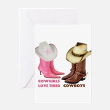 Cowgirls Love Their Cowboys Greeting Cards