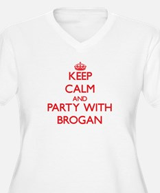 Keep Calm and Party with Brogan Plus Size T-Shirt